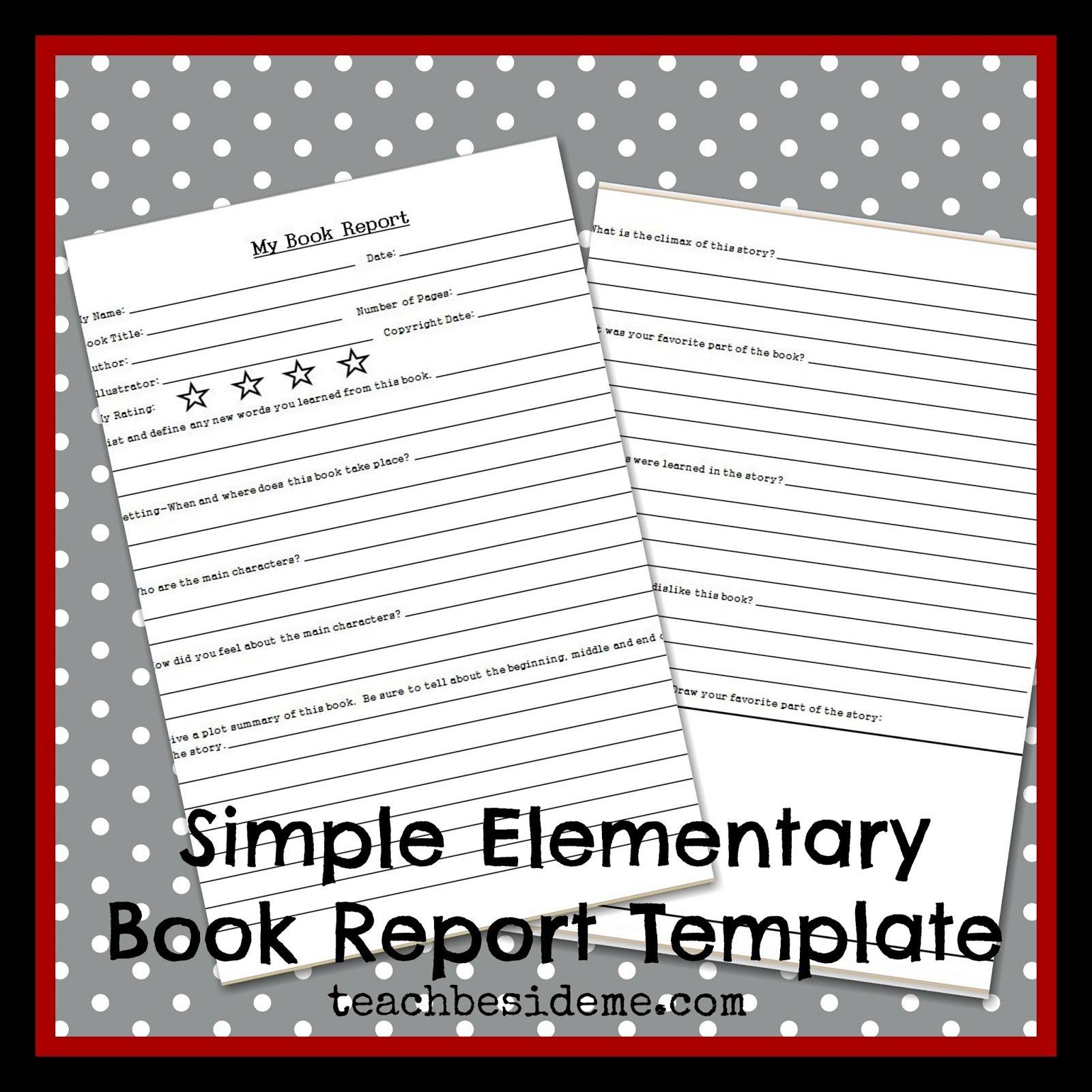 Elementary Level Book Report Template – Teach Beside Me Regarding Story Report Template