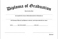 Elementary School Diploma  Toha intended for University Graduation Certificate Template
