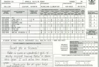 Elementary School Report Card Template  Homeschooling  Report Card regarding Homeschool Report Card Template Middle School