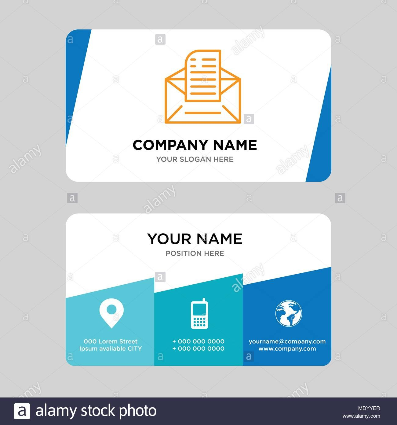 Email Business Card Design Template Visiting For Your Company With Regard To Email Business Card Templates