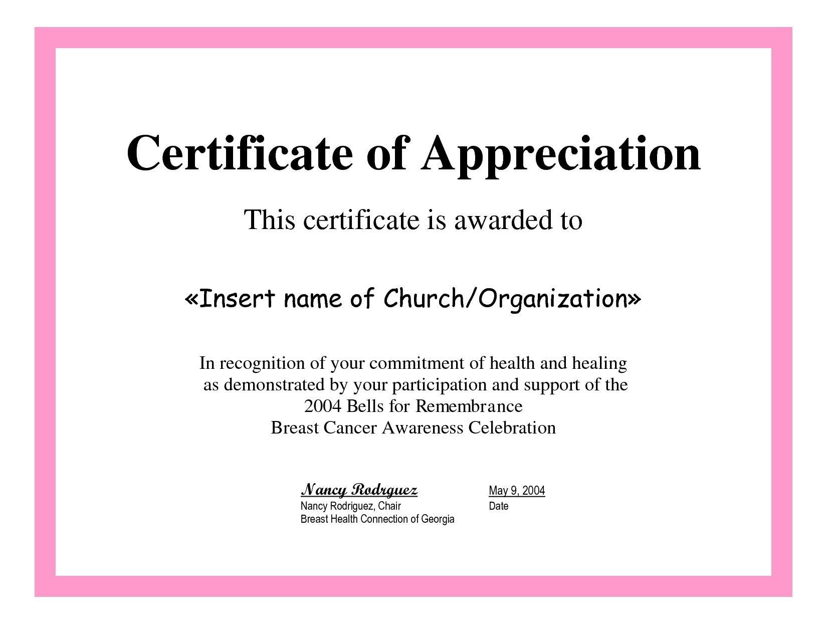 Employee Appreciation Certificate Template Free Recognition For Army Certificate Of Appreciation Template