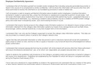 Employee Confidentiality Agreement Examples  Pdf Word  Examples inside Word Employee Confidentiality Agreement Templates
