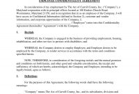 Employee Confidentiality Agreement Examples  Pdf Word  Examples with Word Employee Confidentiality Agreement Templates
