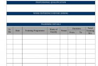 Employee History Card throughout Employee Card Template Word