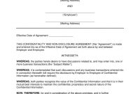 Employee Nondisclosure Agreement Nda Template  Eforms – Free in Word Employee Confidentiality Agreement Templates