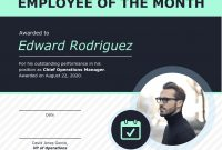 Employee Of The Month Certificate Of Recognition Template Template within Manager Of The Month Certificate Template