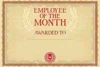 Employee Of The Month  Certificate Template Royalty Free Cliparts inside Employee Of The Month Certificate Template