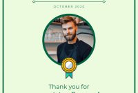 Employee Of The Month Certificate Template Template  Venngage intended for Employee Of The Month Certificate Templates