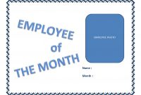 Employee Of The Month Certificate Template  Templates At With Regard To Employee Of The Month Certificate Template With Picture