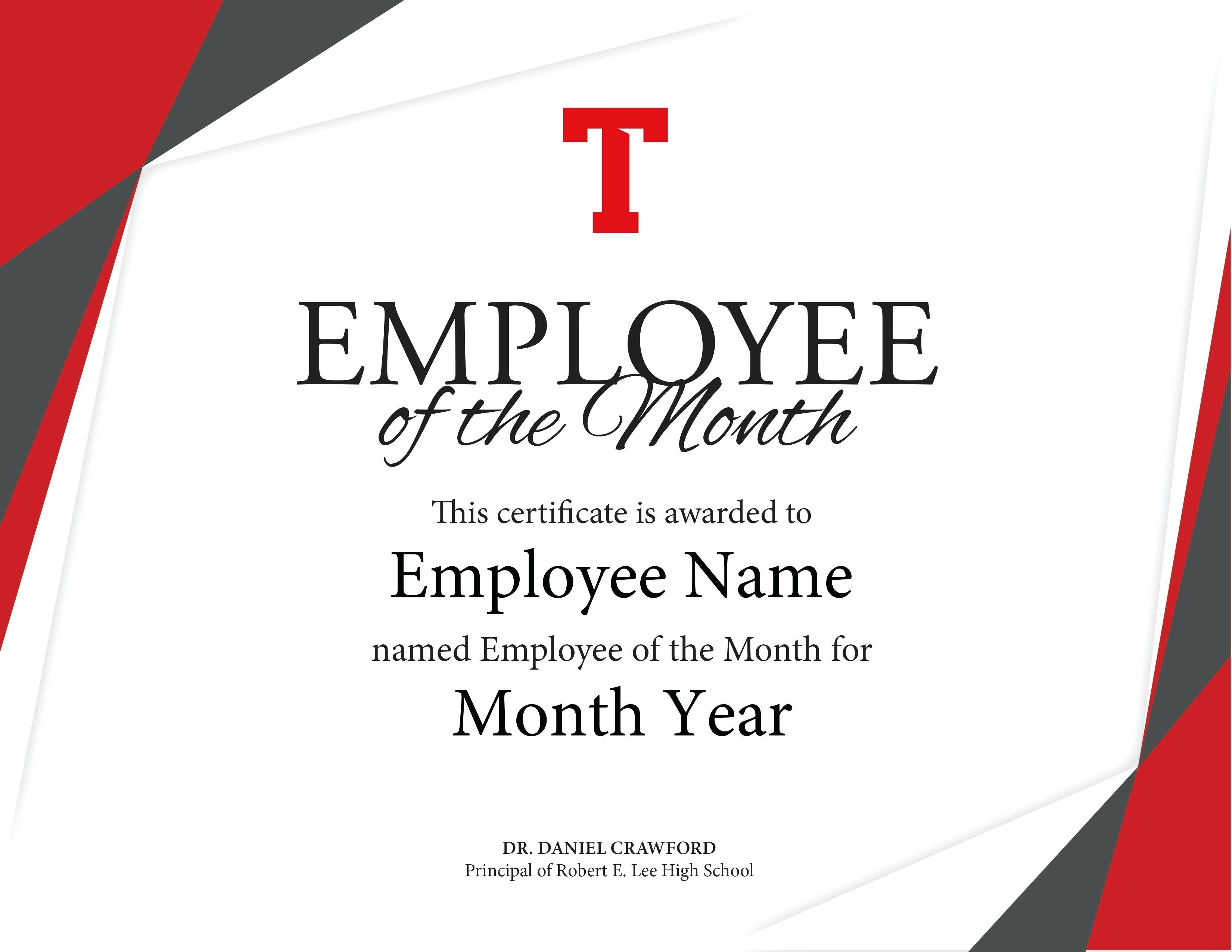 Employee Of The Year Certificate Templates  This Is Charlietrotter Within Employee Of The Year Certificate Template Free