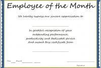Employee Recognition Certificate Templates Free  This Is in Employee Of The Year Certificate Template Free