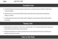 Employee Weekly Report Template  Venngage for Weekly Activity Report Template