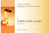 Employeeoftheyearcertificateblank inside Employee Of The Year Certificate Template Free