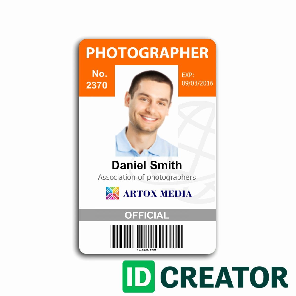 Employees Id Card Template New  Id Card Templates Psd Eps Png Within Media Id Card Templates
