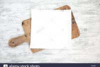 Empty Clear Menu Template On Chopping Board On Wood Background Stock within Empty Menu Template