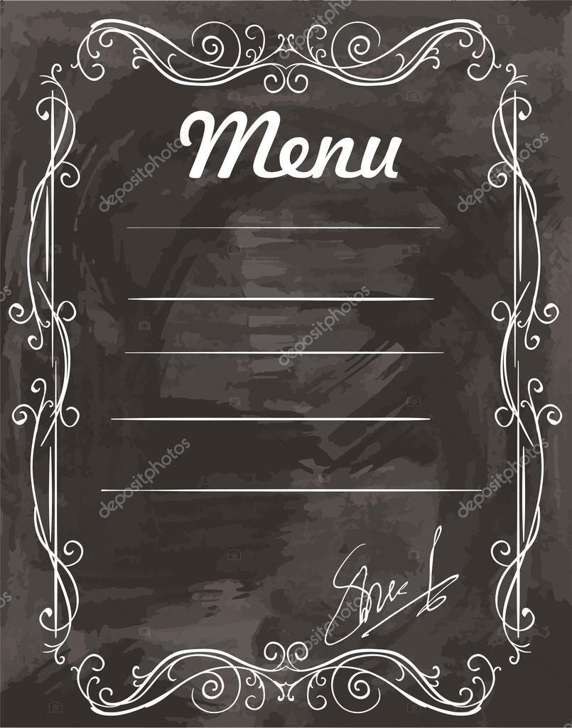 Empty Sample Menu — Stock Vector © Lapuma Pertaining To Empty Menu Template