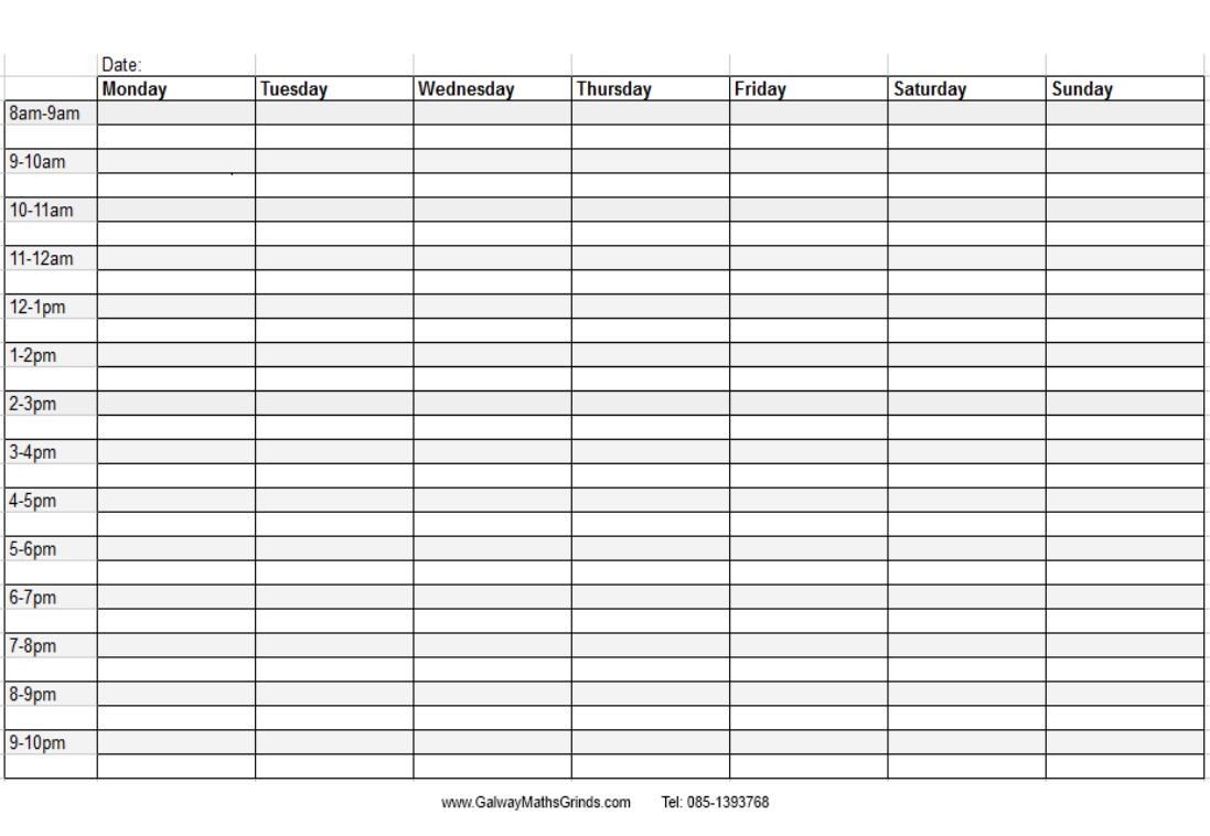 En Özgün Şiirleren Anlamlı Sözlerşiirceler Timetable Template With Blank Revision Timetable Template