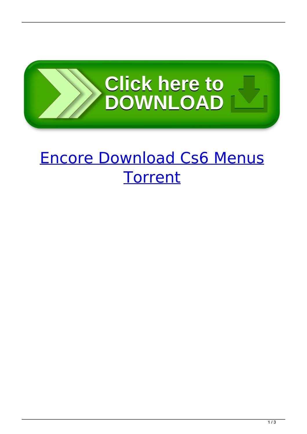 Encore Download Cs Menus Torrentevareror  Issuu Intended For Encore Cs6 Menu Templates Free