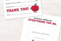 End Of Year Teacher Gift Card Holder Teacher Appreciation Gift with regard to Thank You Card For Teacher Template