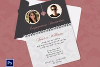 Engagement Invitation Cards Templates  Party Invitation Collection inside Engagement Invitation Card Template