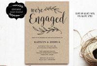 Engagement Invitation Template Printable Engagement Party intended for Engagement Invitation Card Template