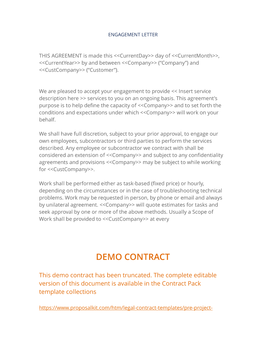 Engagement Letter   Easy Steps Intended For Scope Of Work Agreement Template
