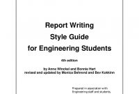 Engineering Report Template  Sansurabionetassociats within Template For Technical Report