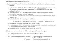 Enrollment Form And Agreement within Tuition Agreement Template