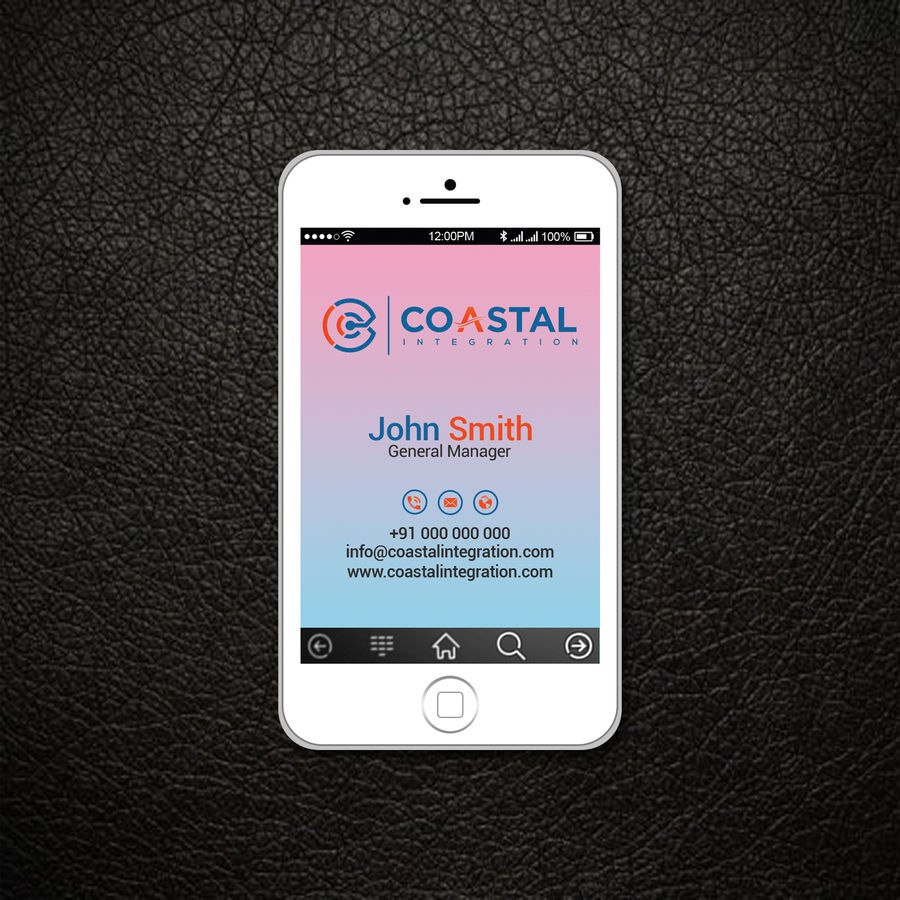 Entry Patitbiswas For Business Card Design And Ready To Print With Iphone Business Card Template