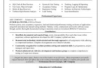 Entrylevel Qa Software Tester Resume Sample  Monster within Software Quality Assurance Report Template