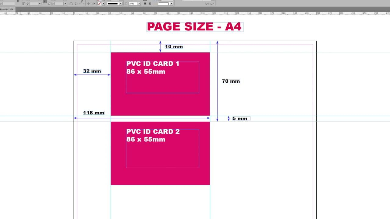 Epson L Printers Pvc Id Card Printing Layout  Youtube Pertaining To Pvc Card Template