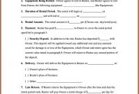 Equipment Rental Agreement Template Ideas Form with regard to Hire Agreement Template Australia