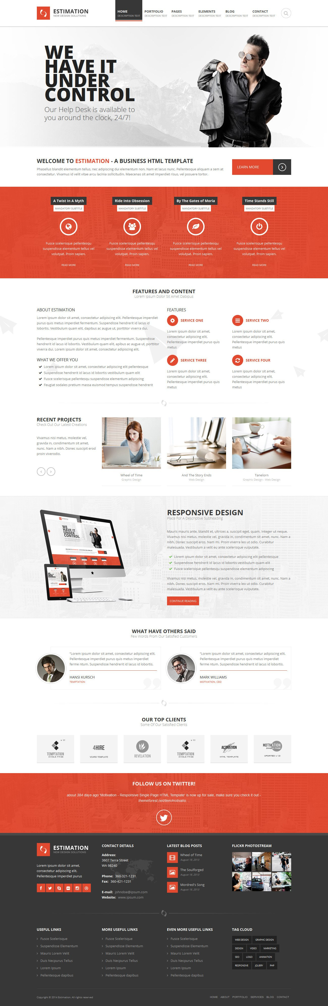Estimation  Responsive Business Html Templatehedgehogcreative With Regard To Estimation Responsive Business Html Template Free Download