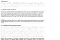 Eula Template Generator with Software Warranty Agreement Template
