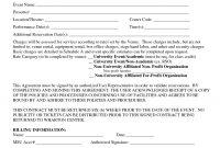 Event Contract Template  Invitation Templates  Facility Rental regarding Venue Rental Agreement Template