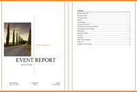 Event Reporting Template  Business Opportunity Program inside Post Event Evaluation Report Template