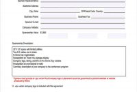 Event Sponsorship Form   Free Documents In Word Pdf in Event Sponsorship Agreement Template