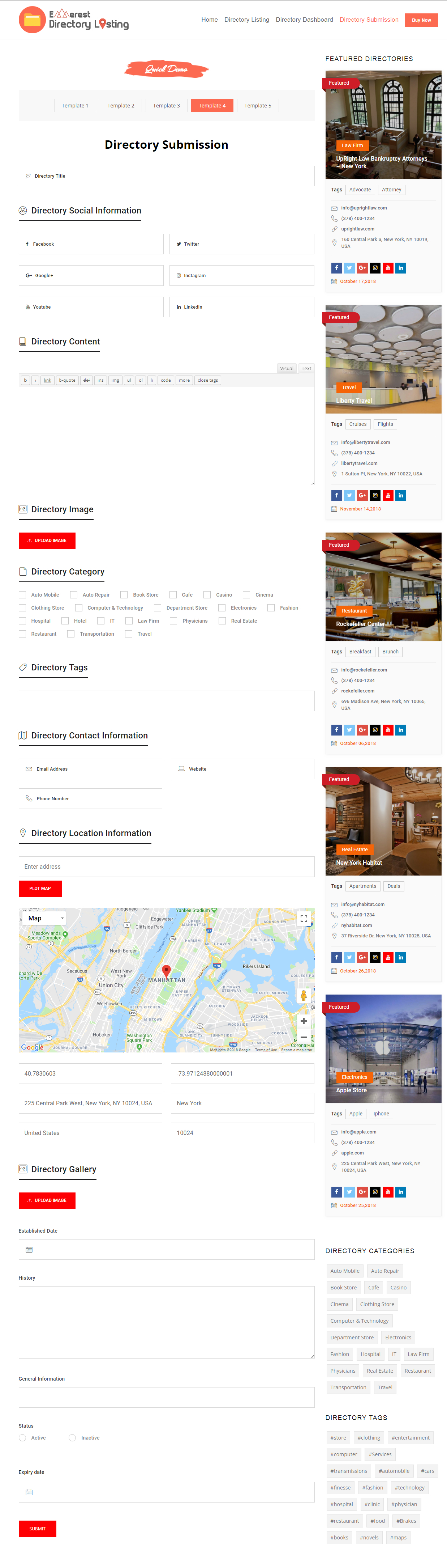 Everest Business Directory  A Complete Business Directory WordPress Intended For WordPress Business Directory Template