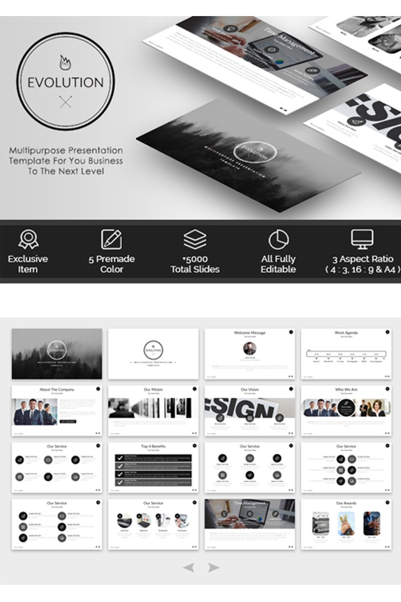 Evolution  Multipurpose Powerpoint Template Pertaining To Save Powerpoint Template As Theme