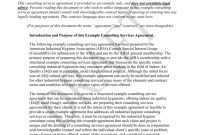 Example Consulting Services Agreement pertaining to Consulting Service Agreement Template