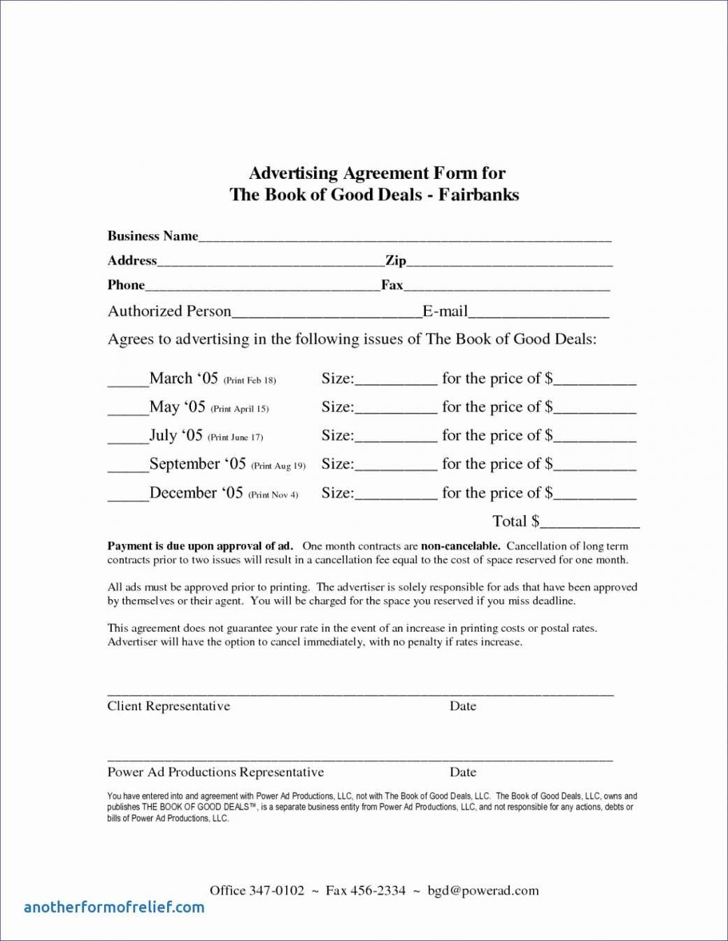 Example Of Online Advertising Agreement Template Free For You Pertaining To Free Online Advertising Agreement Template