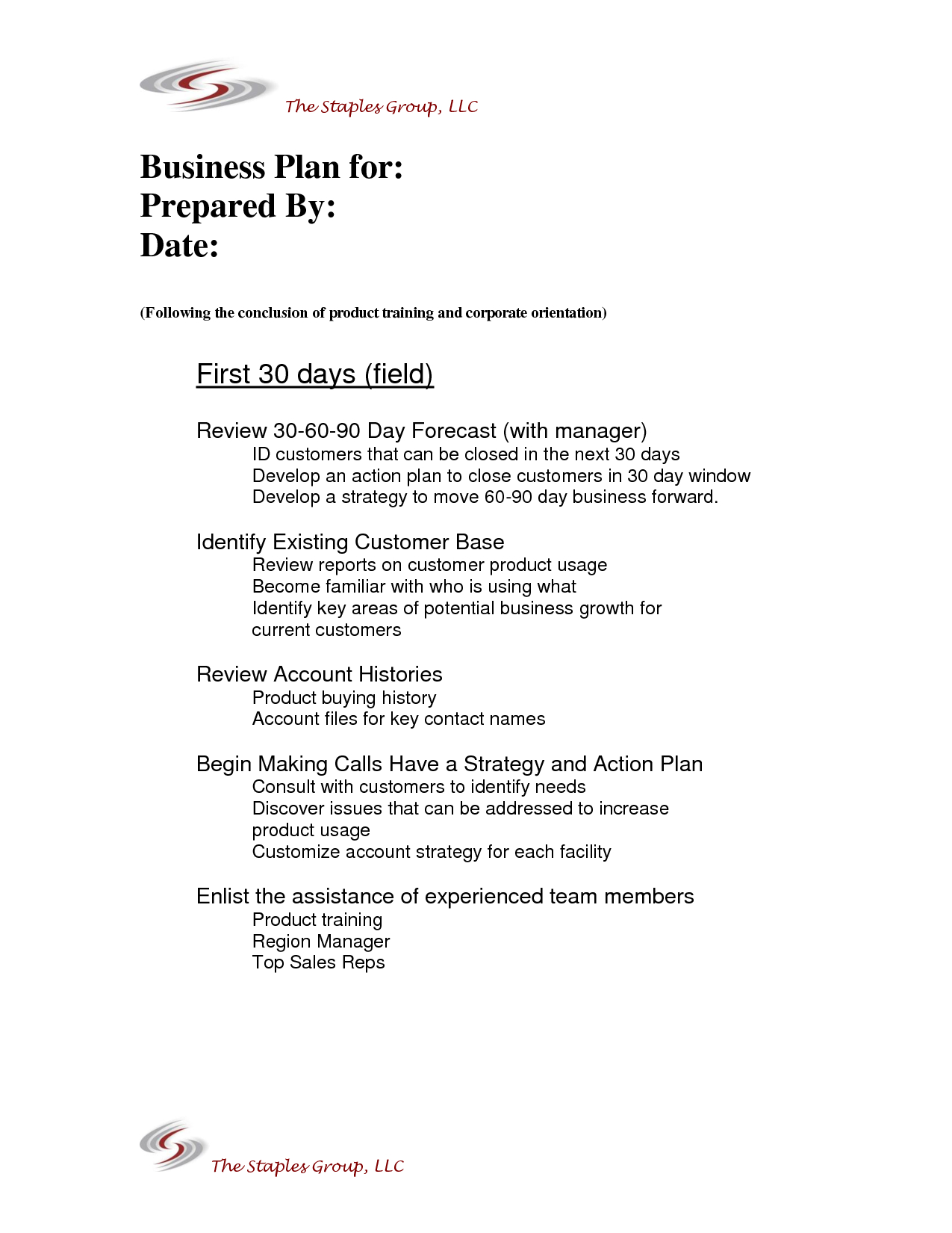 Example Of Sales Plan Template Marvelous Templates Territory Intended For Business Plan To Increase Sales Template