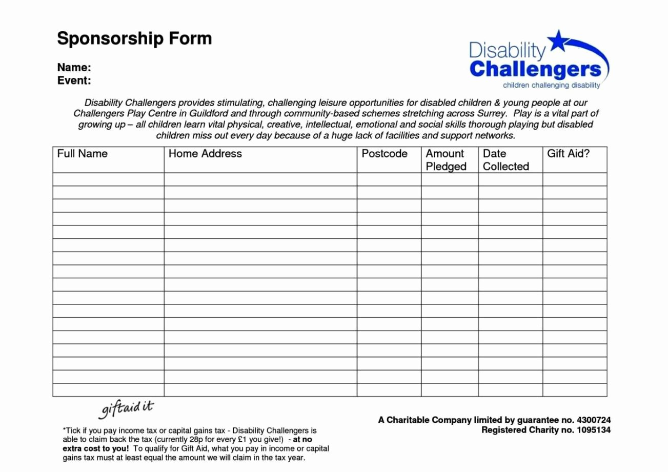 Example Sponsor Form Template Free Ideas Event Unusual Inside Blank Sponsor Form Template Free