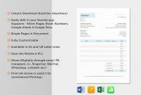 Excel Auf Ipad Von Hotel Invoice Template In Word Excel Apple Pages within Invoice Template Ipad