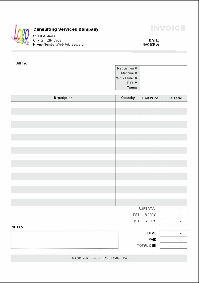 Excel Based Consulting Invoice Template Excel Invoice Manager With Free Consulting Invoice Template Word