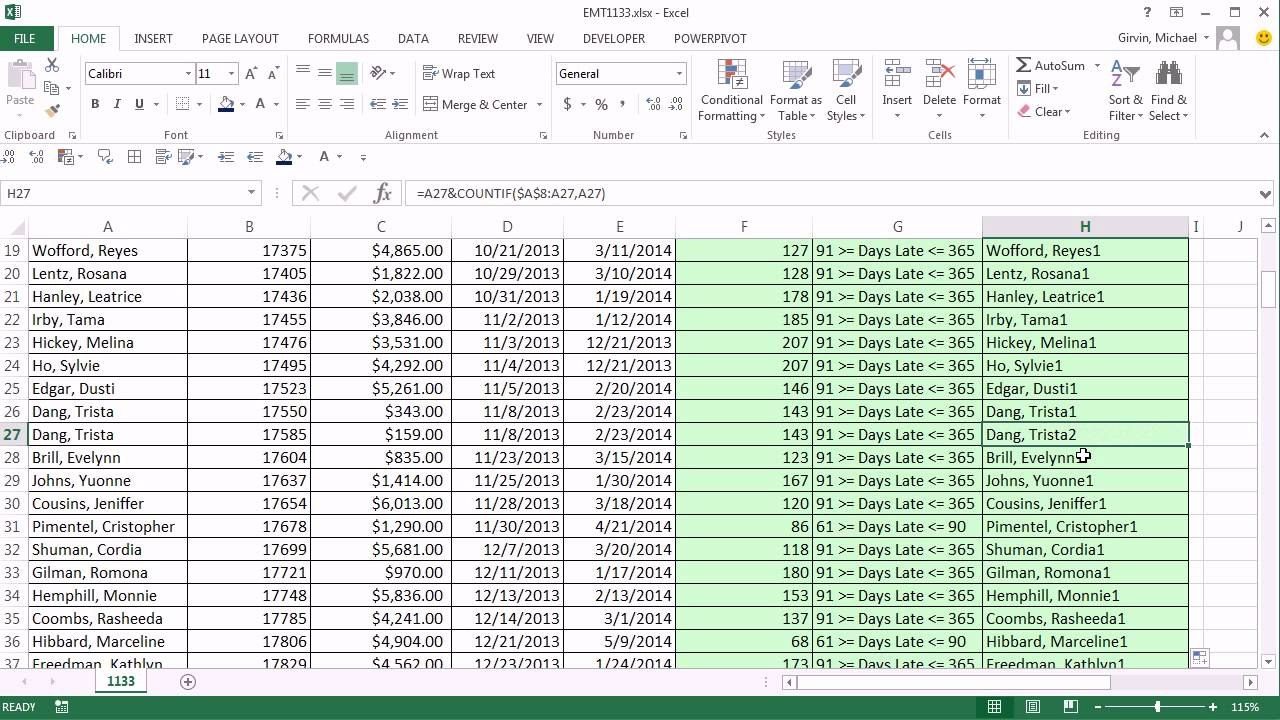 Excel Magic Trick  Aging Accounts Receivable Reports Inside Ar Report Template