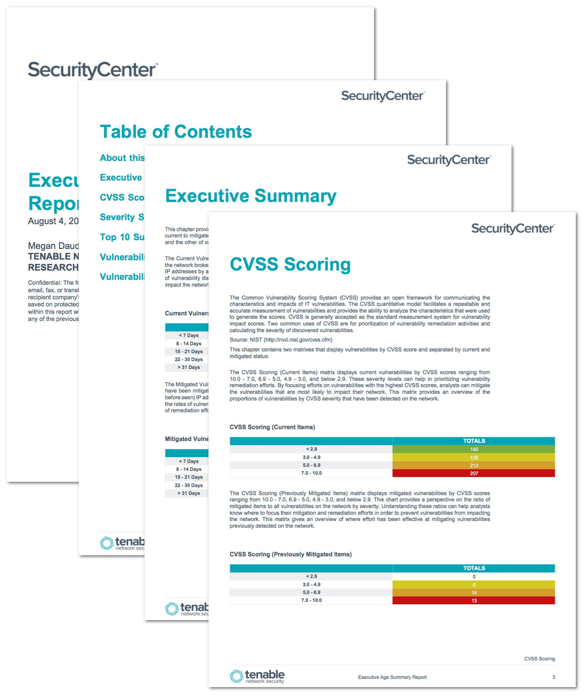 Executive Age Summary Report  Sc Report Template  Tenable® For Nessus Report Templates