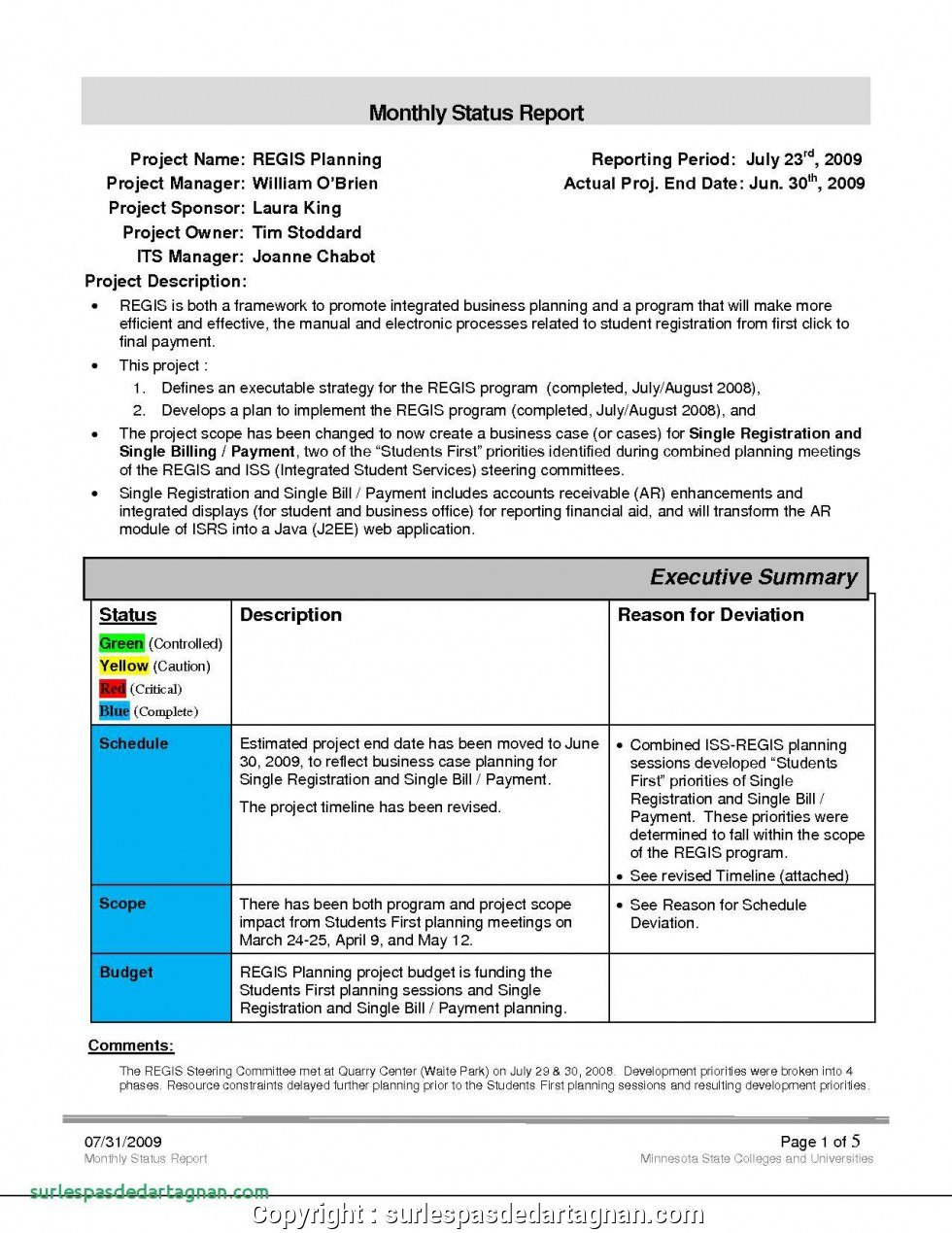 Executive Sales Manager Report Example Monthly Report Template And Within Sales Manager Monthly Report Templates