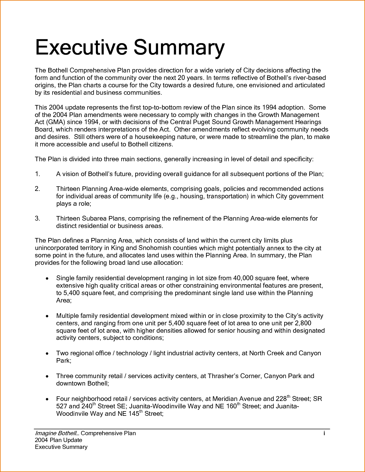 Executive Summary Example Incident Report Template Sample Intended For Template For Summary Report