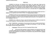 Exexecutedthirdamendm pertaining to Credit Terms Agreement Template
